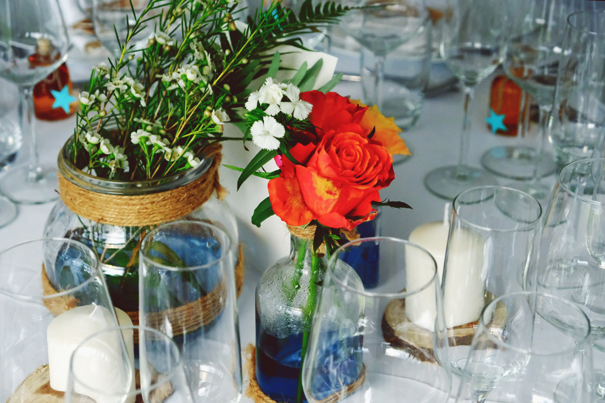 centre de table mariage et décoration elisabeth Delsol