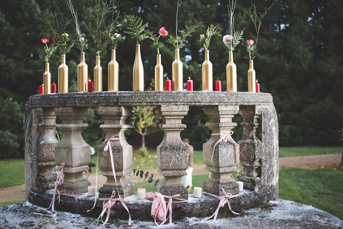 Composition florale d'hiver déco Elisabeth Delsol.