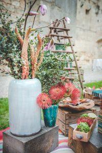 Décoration Et Bouquets De Fleurs De Mariage Bohème Romantique Sur Saint Émilion Et La Gironde Par Elisabeth Delsol.