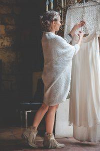 Robe De Mariée De Mariage Bohème Romantique Sur La Gironde Et L'Aquitaine.