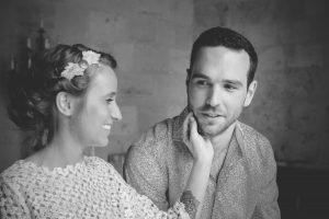 Séance Photo De Couple De Mariage Bohème Romantique En Gironde Et Aquitaine.