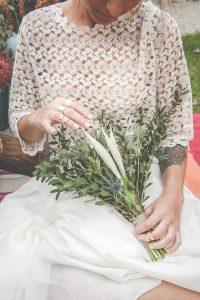 Bouquet De Mariée En Feuillage D'eucalyptus De Mariage Boheme Romantique.