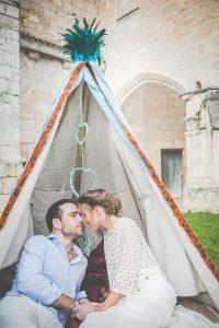 Tipi De Décoration De Réception De Mariage Au Thème Bohème Chic.