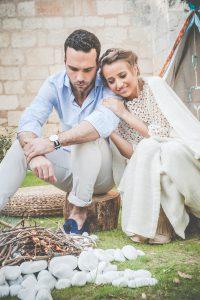 Décoration De Mariage Bohème Romantique Avec Feu Bohème Et Indien.