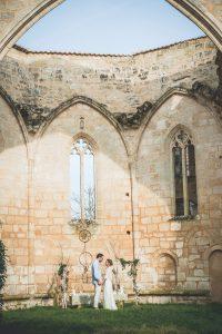 Arche De Déco De Mariage Bohème Romantique En Extérieur Sur Bordeaux Et La Gironde.