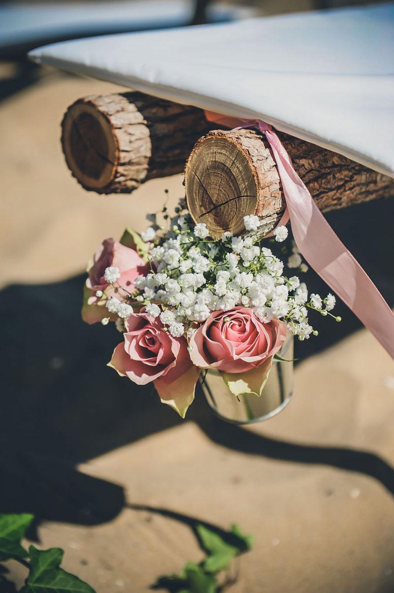 Décoration et fleur de mariage bord de mer.