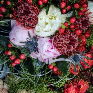 Composition Florale Pivoine Par Elisabeth Delsol