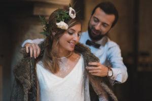 Couronne De Fleur De Mariage En Hiver.