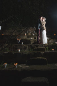 Décoration De Mariage De Nuit En Hiver Par Les Bougies De La Décoratrice Elisabeth Delsol.