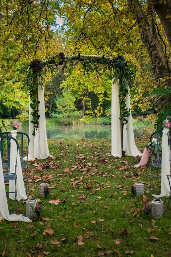 Décoration de mariage romantique par Elisabeth Delsol.