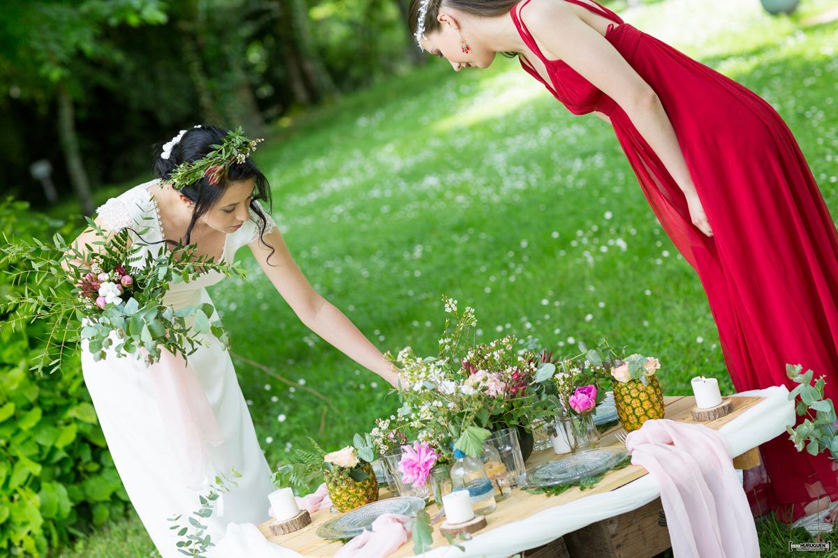 Décoration mariage jardin romantique par Elisabeth Delsol