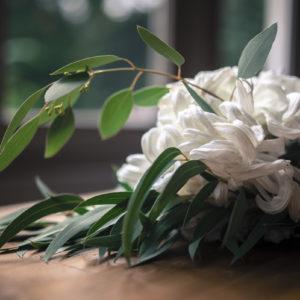 Bouquet De Mariée En Fleur Blanche De Mariage Romantique.