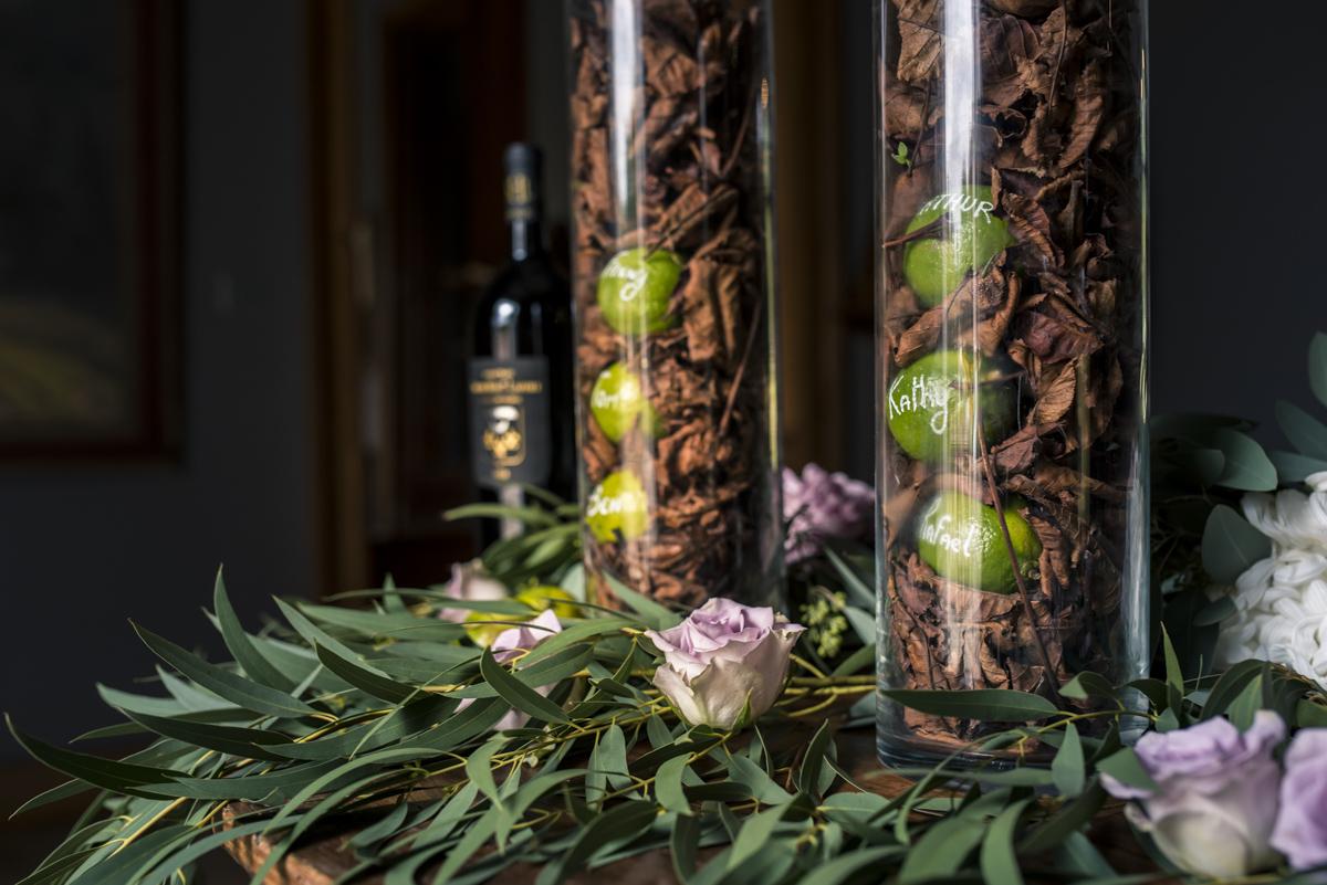 Décoration de mariage et plan de table romantique par la décoratrice Elisabeth Delsol.