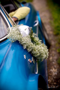 Déco Fleur Voiture Mariage Par Elisabeth Delsol.