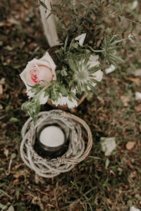 Décoration Et Bouquet De Rose De Mariage Bucolique Chic Par Elisabeth Delsol.