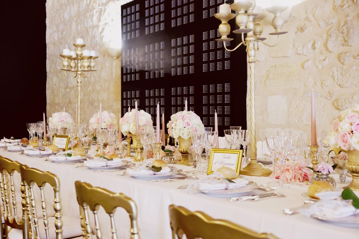 Mariage Château Agassac : décoration florale par Elisabeth Delsol.