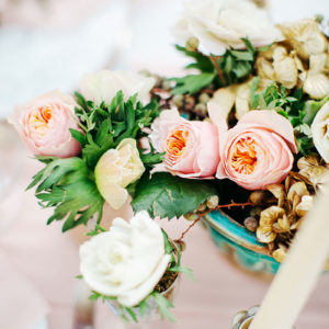 Composition Florale Couleur Rose : Déco De Mariage Et événement.