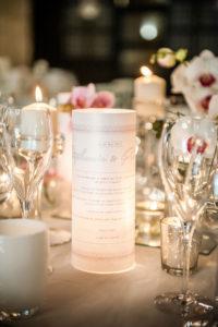Centre De Table De Mariage Simple Et Chic En Orchidée Par Elisabeth Delsol.