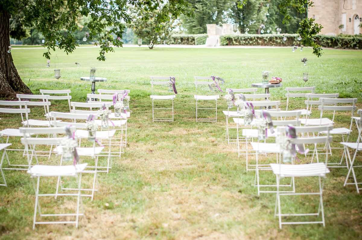 Décoration mariage simple et chic par Elisabeth Delsol.
