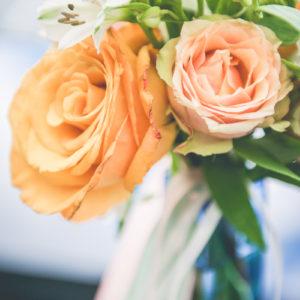 Composition Florale Orange : Déco De Mariage Et événement Par Elisabeth Delsol.
