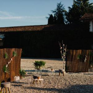 Décoration De Mariage Bucolique Au Château De Seguin En Gironde.
