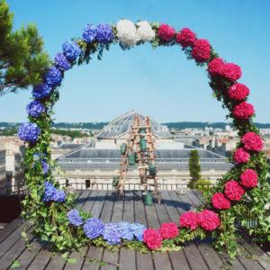 Déco Fête Nationale Du 14 Juillet En Fleur Bleu Blanc Et Rouge.