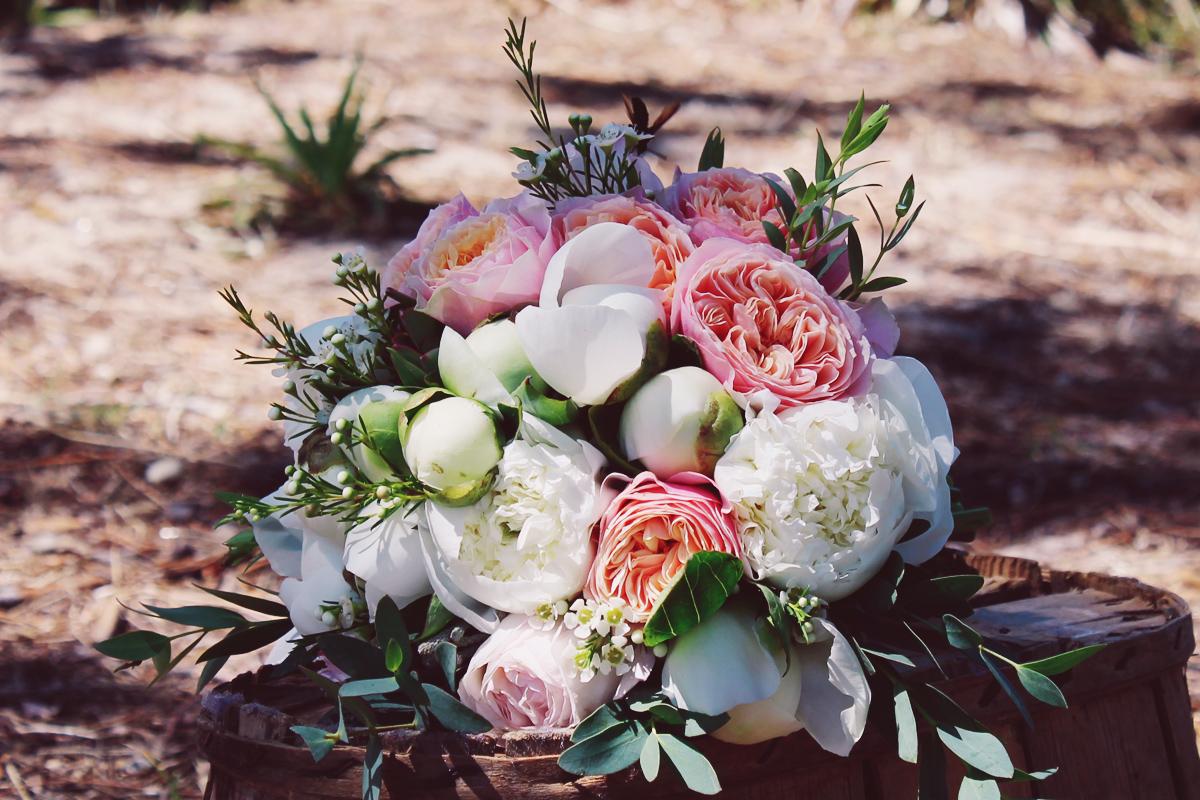 Bouquet de mariée de l'artisan fleuriste d'Aquitaine Elisabeth Delsol.