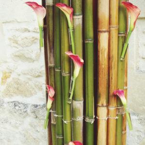 Composition Florale De Calla Et Arum Blanc Par Elisabeth Delsol
