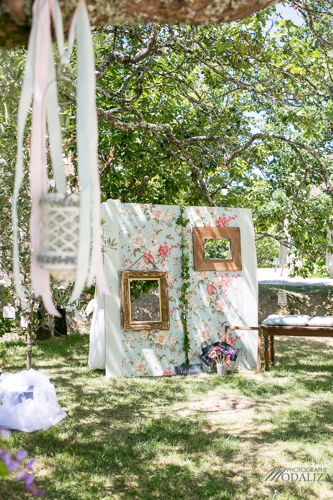 Décoration photobooth de mariage champêtre par Elisabeth Delsol.
