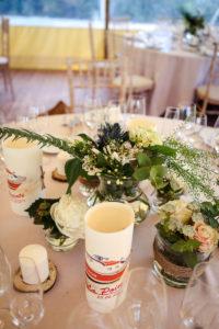 Composition Florale De Mariage En Bord De Mer Au Cap Ferret En Hortensia Et Rose Pour Bouquet Bohème Chic.