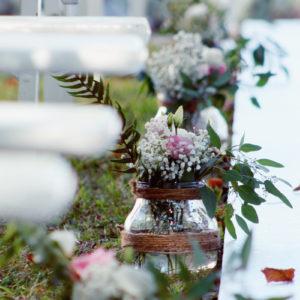 Bouquet Et Allée De Décoration Mariage Chic Et élégant Par Elisabeth Delsol.