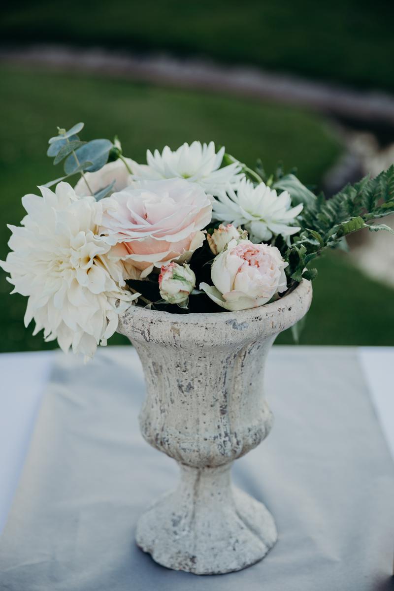 Mariage Villa La Tosca à Arcachon avec une décoration et des fleurs d'Elisabeth Delsol.