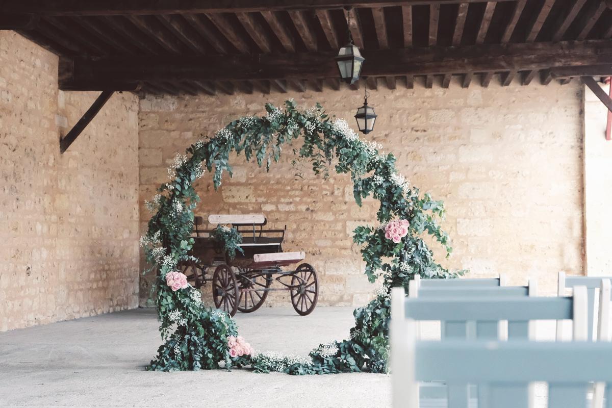 Château Giscours et mariage à la décoration bohème en Gironde.