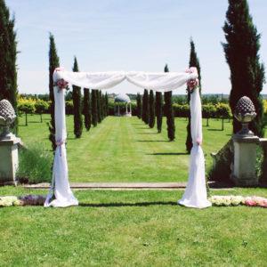 Château La Durantie Mariage Et Décoration Aux Fleurs Champêtre.