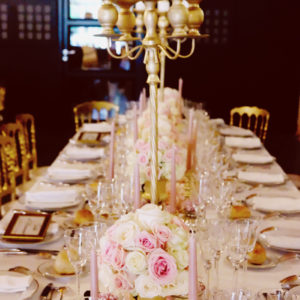 Centre De Table Mariage Romantique En Décoration Et Fleurs.