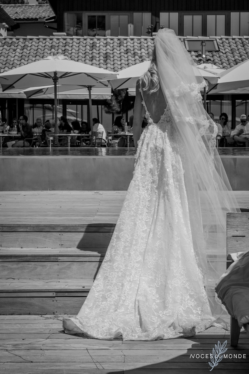 La Coorniche et un mariage dans un restaurant d'Arcachon et du Pyla à la décoration romantique.