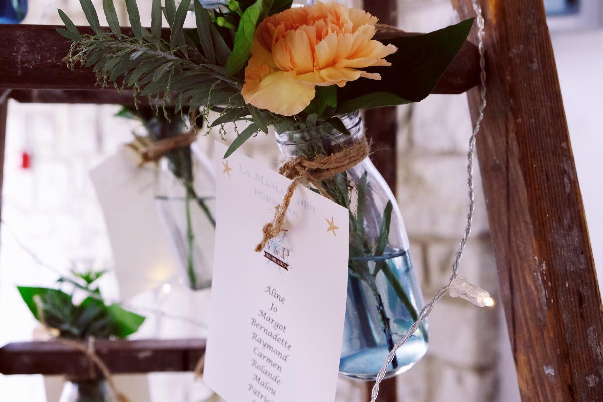 Domaine des Lugées et un mariage à Arès avec ma décoration de salle de réception.