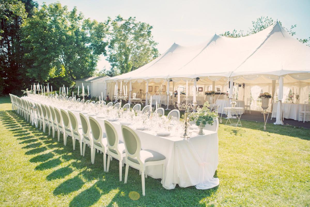 Matériel, objet et mobilier de décoration de mariage, réception et événement.
