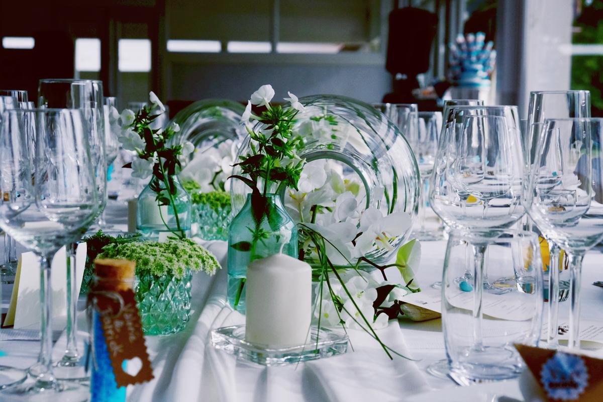 Vase boule pour décoration et centre de table de mariage et réception.