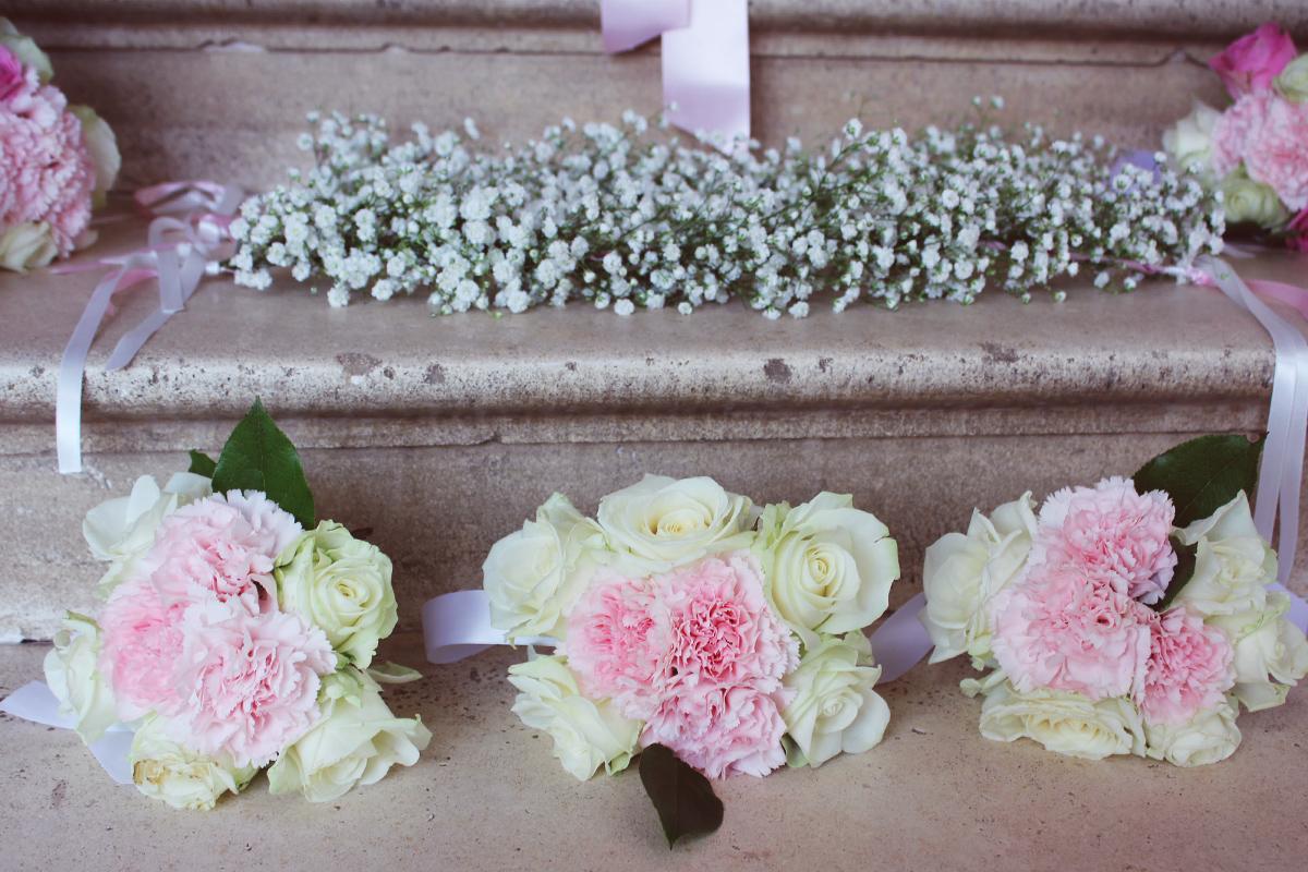Bouquet de demoiselle d'honneur champêtre.