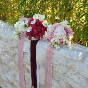 Bouquet De Demoiselle D'honneur Champêtre Et Chic Avec Des Roses.