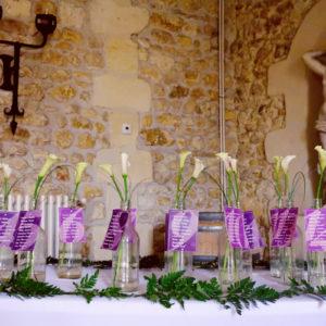 Composition Florale De Calla Et Arum Blanc En Bouquet Champêtre De Mariage.
