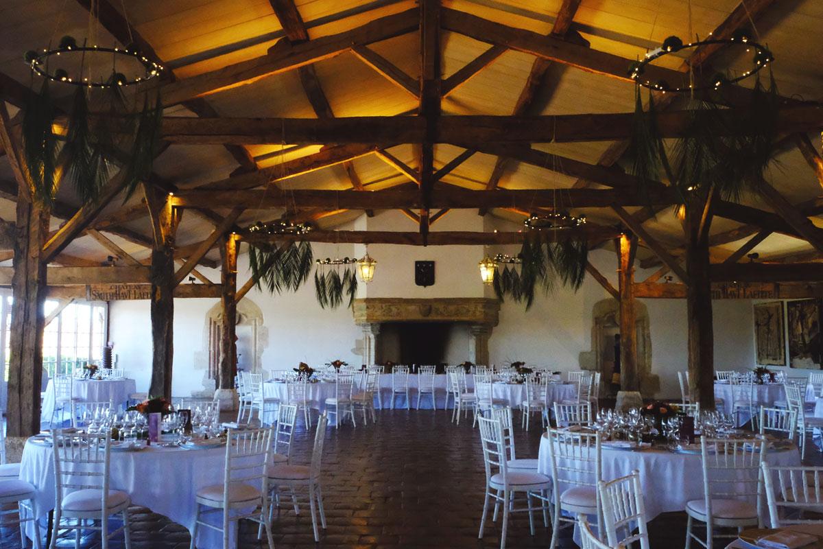 Château Smith Haut Lafitte mariage et décoration de la salle de réception avec élégance