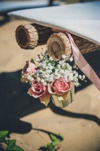 Décoration Mariage Extérieur Et Fleurs De Rose Pour Cet événement Dans Le Parc.