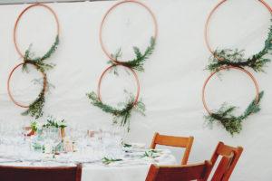Décoration Murale Et Plafond Pour Salle De Mariage Au Style Chic Et Champêtre.