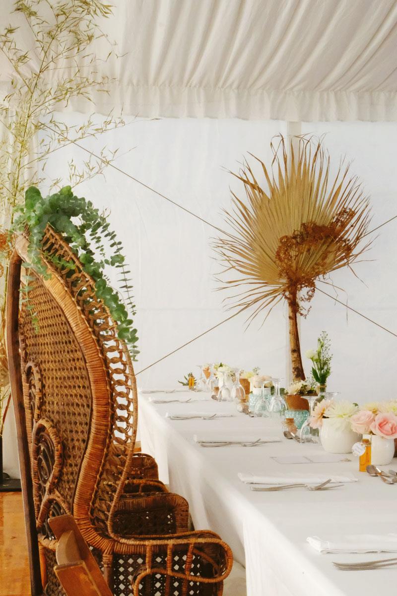 Château de Bellocq au mariage et décoration en fleur dans le Béarn et le Sud Ouest.