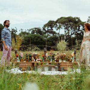 Décoration Mariage En Fleurs Séchées Dans Une Campagne Du Sud Ouest Romantique Et Un Domaine Chic Sur Biarritz.