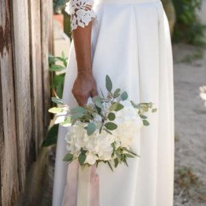 Bouquet De Mariée Et Hortensia Pour Mariage Champêtre Et Bucolique.
