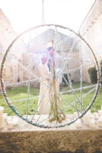 Attrape Rêves Chic D'un Mariage à La Déco Sur Le Voyage Bohème.