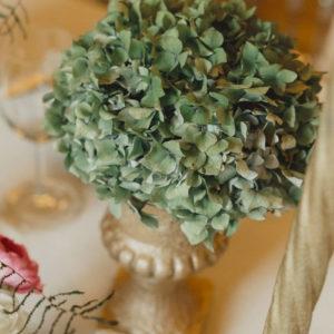 Hortensia Vert Pour Un Feuillage Naturel De Décoration De Mariage.